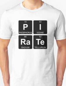 P I Ra Te - Pirate - Periodic Table - Chemistry - Chest Unisex T-Shirt