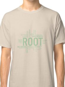 Root Identities - Person Of Interest - Black Classic T-Shirt