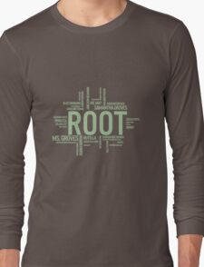 Root Identities - Person Of Interest - Black Long Sleeve T-Shirt