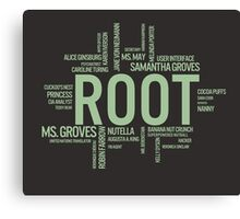 Root Identities - Person Of Interest - Black Canvas Print