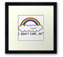 I dont care Framed Print