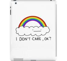 I dont care iPad Case/Skin
