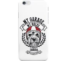 My garage, My rules iPhone Case/Skin