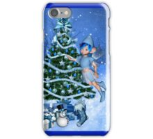 Blue Christmas iPhone Case/Skin