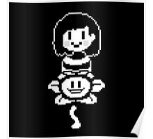 Flowey and Chara- Undertale Poster