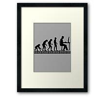 computer evolution Framed Print