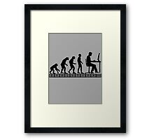 computer evolution Framed Print