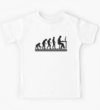 computer evolution Kids Tee