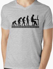 computer evolution Mens V-Neck T-Shirt