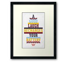 Grunge motivational poster Framed Print