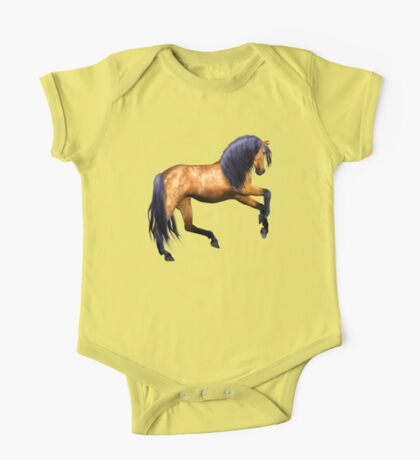 Buckskin Stallion  One Piece - Short Sleeve