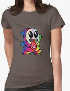 Not So Shy Guy Trippy Womens Fitted T-Shirt