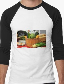 Eggs and vegetables Men's Baseball ¾ T-Shirt