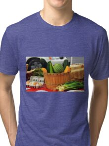 Eggs and vegetables Tri-blend T-Shirt