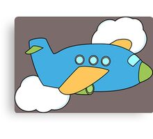 Airplane flying through Clouds Canvas Print
