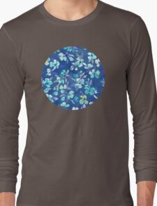 Grown Up Betty - blue watercolor floral Long Sleeve T-Shirt