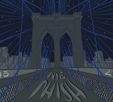 Phish NYE MSG NYC Brooklyn Bridge by Robin McGill