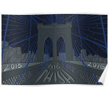 Phish NYE MSG NYC Brooklyn Bridge Poster
