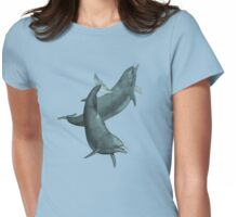 Dolphins at Play  Womens Fitted T-Shirt