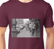 Collector, On the Way to M.Cartier Bresson Paris 1975 5 (n&b)(t) by Olao-Olavia par Okaio Création Unisex T-Shirt