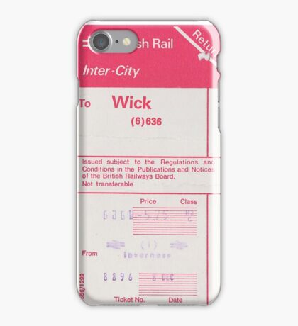 Ticket to Wick  iPhone Case/Skin
