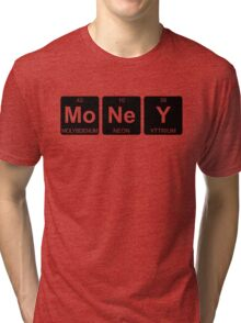 Mo Ne Y - Money - Periodic Table - Chemistry - Chest Tri-blend T-Shirt