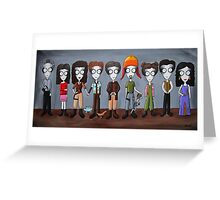 Firefly Characters, spookified. Greeting Card