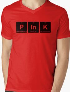 P In K - Pink - Periodic Table - Chemistry - Chest Mens V-Neck T-Shirt
