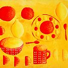 Lemons and Oranges with Bowls by Julie Nicholls