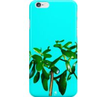 Good Luck Succulent Tree on Sky Blue iPhone Case/Skin