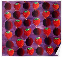 Strawberries and Plums Poster