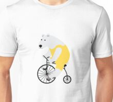 Cycling Polar Bear Unisex T-Shirt