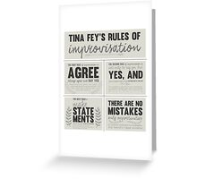 Tina Fey's rules of improvisation Greeting Card