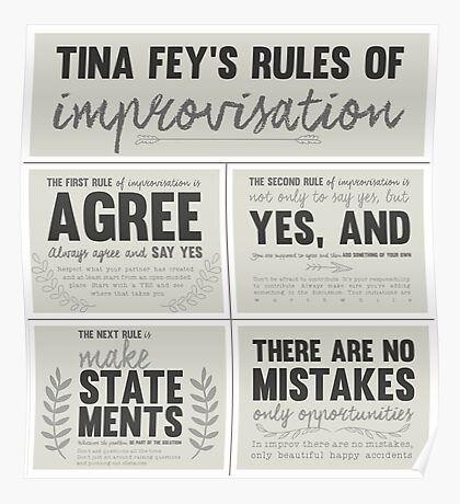Tina Fey's rules of improvisation Poster