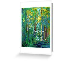 Stand Firm in Your Faith Greeting Card