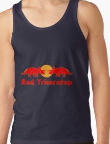 Prehistoric energy drink, Red Triceratop Tank Top