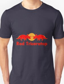 Prehistoric energy drink, Red Triceratop Unisex T-Shirt