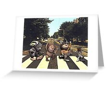 Wild on Abbey Road Greeting Card