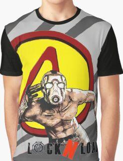 Borderlands Psycho, Pandora Vault Logo Graphic T-Shirt