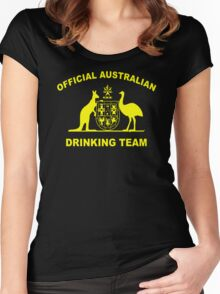 AUSTRALIAN DRINKING TEAM Women's Fitted Scoop T-Shirt