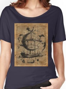 Victorian Steampunk Flying Machine Women's Relaxed Fit T-Shirt
