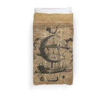 Victorian Steampunk Flying Machine Duvet Cover