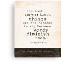 words journal Canvas Print