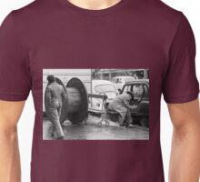 Collector, On the Way to M.Cartier Bresson Paris 1975 6 (n&b)(t) by Olao-Olavia par Okaio Création Unisex T-Shirt