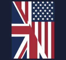 American and Union Jack Flag Baby Tee