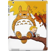 Parody Totoro, Calvin And The Hobbes iPad Case/Skin