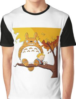Parody Totoro, Calvin And The Hobbes Graphic T-Shirt