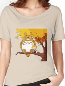 Parody Totoro, Calvin And The Hobbes Women's Relaxed Fit T-Shirt