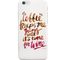 Coffee & Wine – Brown & Magenta Ombré iPhone Case/Skin