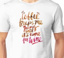 Coffee & Wine – Brown & Magenta Ombré Unisex T-Shirt